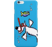 White Schnauzer Snorkel Buddy iPhone Case/Skin