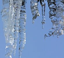 Clear blue sky with Icicles by Avril Harris