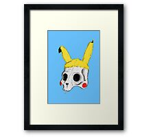 The Skull of Pikachu Framed Print