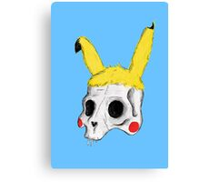 The Skull of Pikachu Canvas Print