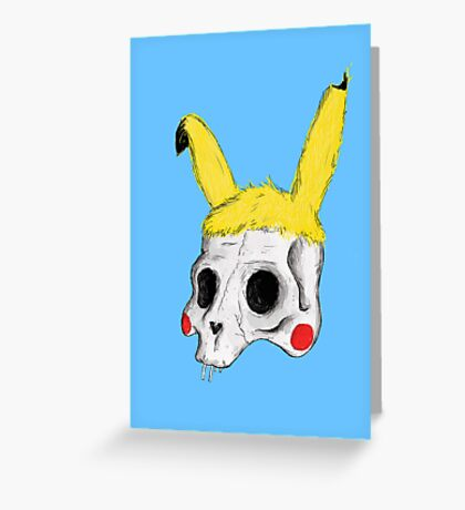 The Skull of Pikachu Greeting Card