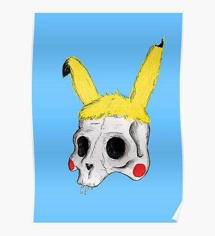 The Skull of Pikachu Poster