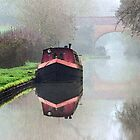 Foggy day on the Canal. by Avril Harris