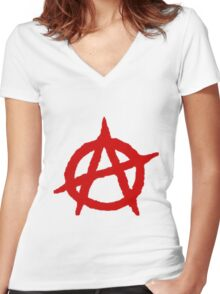 Anarchy Shirt Women's Fitted V-Neck T-Shirt