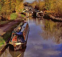 Stockton Locks in February by Avril Harris