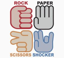 Rock Paper Scissors Shocker T-Shirt