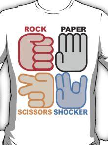 Rock Paper Scissors Shocker T-Shirt