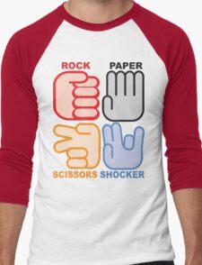 Rock Paper Scissors Shocker Men's Baseball ¾ T-Shirt