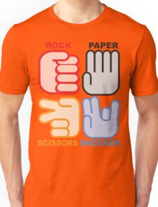 Rock Paper Scissors Shocker Unisex T-Shirt