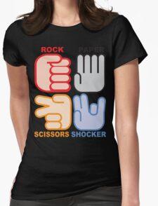 Rock Paper Scissors Shocker Womens Fitted T-Shirt