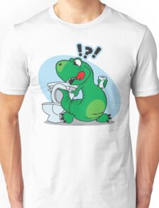 T-rex and the Potty Unisex T-Shirt