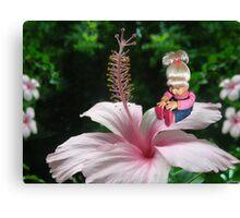 ☀ ツ MY LITTLE FLOWER GIRL ☀ ツ Canvas Print