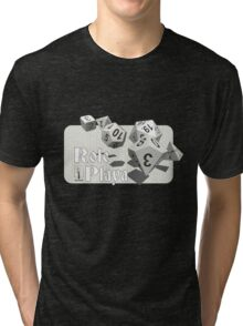 Role Playa - White Tri-blend T-Shirt