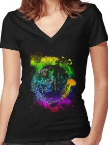 the wish Women's Fitted V-Neck T-Shirt