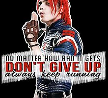 Gerard Way quote #1 (on black) by DangerLine