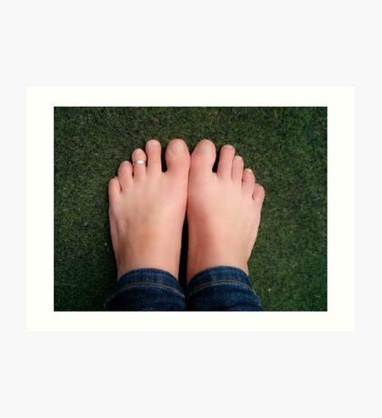Bare feet Art Print