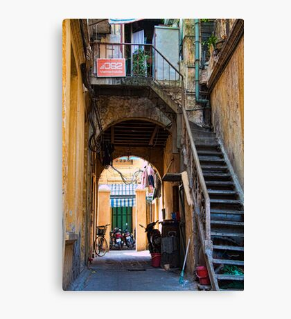 Vietnam. Hanoi. Side street. Canvas Print
