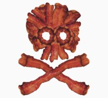 Bacon Skull and Crossbones Kids Clothes