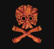 Bacon Skull and Crossbones Unisex T-Shirt