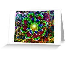 neon flower Greeting Card