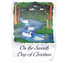 Snowflakes and Swans The Seventh Day of Christmas Poster