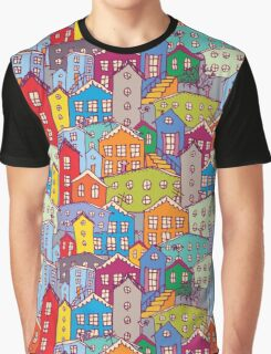 Cityscape seamless pattern. Sketch.  Graphic T-Shirt