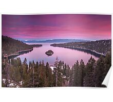 Emerald Bay in Pink Poster
