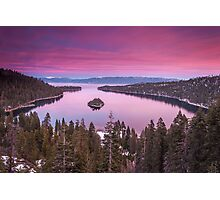 Emerald Bay in Pink Photographic Print