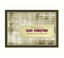 ~ God is Creative ~ Art Print