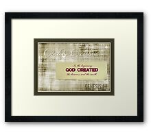 ~ God is Creative ~ Framed Print