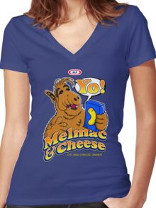 Melmac and Cheese Women's Fitted V-Neck T-Shirt