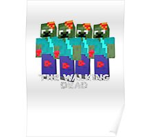 Minecraft - walking dead Poster