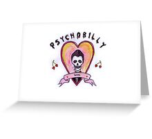 Psychobilly Lover Greeting Card