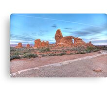 Early Morning Turret Arch Canvas Print
