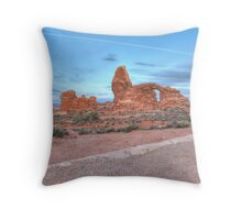 Early Morning Turret Arch Throw Pillow