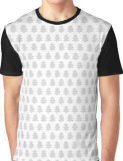 Silver Christmas Trees Pattern Graphic T-Shirt