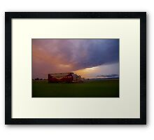 Truckload of storms Framed Print