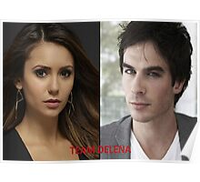 Team Delena - The Vampire Diaries - (Designs4You) Poster