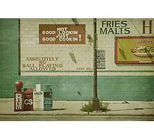 Diner Rules Photographic Print