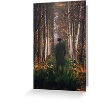 in the woods that day Greeting Card