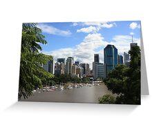 Brisbane from Kangaroo Point Cliffs Greeting Card