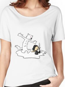 Jon and Ghost Women's Relaxed Fit T-Shirt