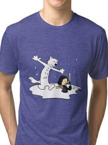 Jon and Ghost Tri-blend T-Shirt