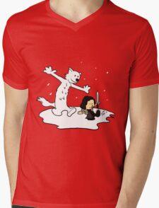 Jon and Ghost Mens V-Neck T-Shirt
