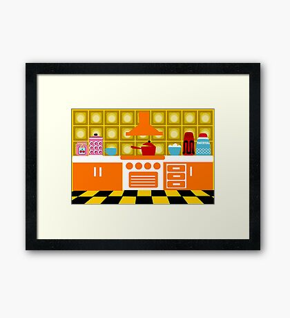 Retro Kitchen Framed Print
