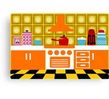 Retro Kitchen Canvas Print
