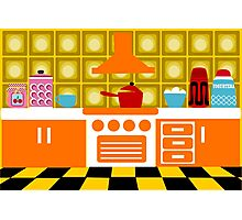 70's Kitchen Photographic Print