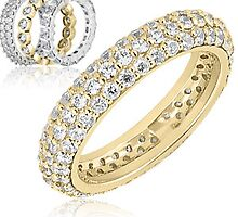 Pave diamond wedding band and Eternity  bands by weddingbands25