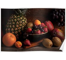 Fruit Bowl Still Life Poster