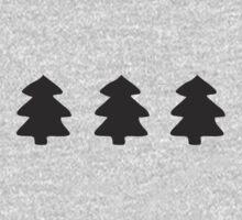 Addams Christmas Trees Pattern Kids Tee